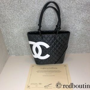 Chanel Cambon CC Tote Quilted Leather Medium